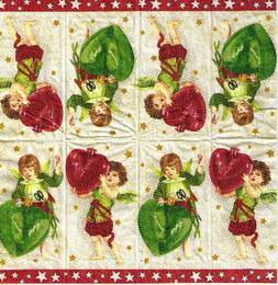PK 029 - kapesníèek 21x21 - vánoèní andìlíèci