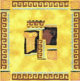 OS 005 - uborusek 33x33 - hnìdo žlutý motiv