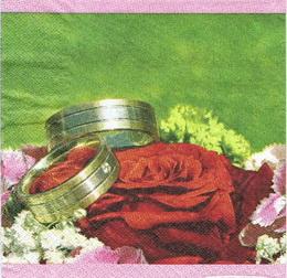 OS 022 - ubrousek 33x33 - svatební prstýnky