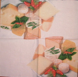 KM 004 - ubrousek 33x33 - sýry mix