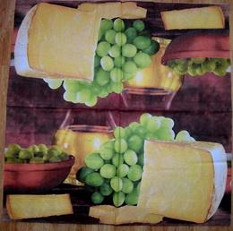 KM 036 - ubrousek 33x33 - víno v míse