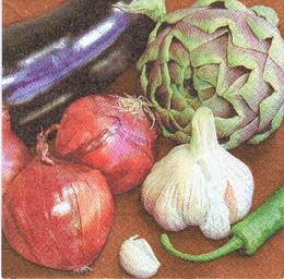 OZ 045 - ubrousek 33x33 - zelenina mix