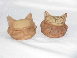 KOÈIÈKA surová keramika - pr.8,5x4,5cm