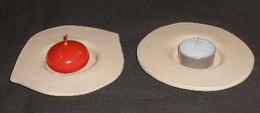 Mistièka surová keramika na èajovou svíèku - 11x2cm