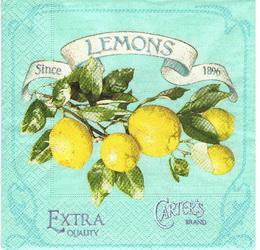OZ 046 - ubrousek 33x33 - lemons extra quality