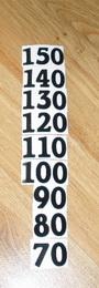 Èísla nalepovací na DM èerná obyèejná vel.1,8cm