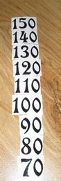Èísla nalepovací na DM èerná ozdobná vel.1,9cm