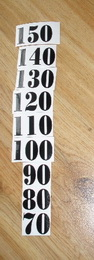Èísla nalepovací na DM èerná typ 18 - vel.1,8cm