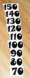 Èísla nalepovací na DM èerná typ 19 - vel.1,8cm