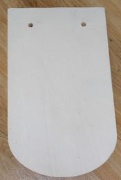 Prkénko - støešní taška  pøekližka 28,5x17cm