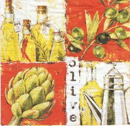 OL 036 - ubrousek na decouapge 33x33 - olive