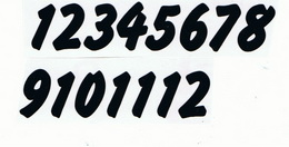 Èísla na hodiny nalepovací èerná - typ è.17 -   v.1,9cm