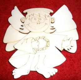 3D výøez ježíšek s køídly v.11x10,5cm