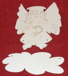 Výøez jmenovka ježíšek s køídly v.15x13,5cm