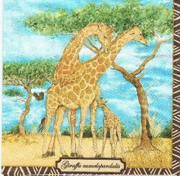 ZV 049 AMBIENTE - ubrousek 33x33 - žirafa + mládì