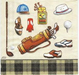OS 034 IHR - ubrousek 33x33 - golf na svìtlém