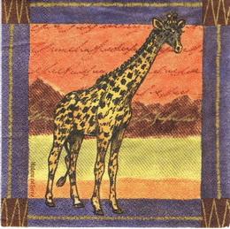 ZV 054 - ubrousek 33x33 - žirafa