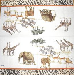 ZV 058 AMBIENTE - ubrousek 33x33 - safari