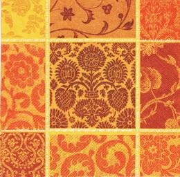 OS 042 - ubrousek 33x33 - mix na oranžovo-hnìdém