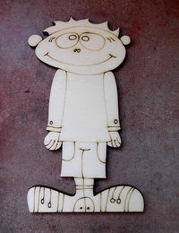 2D výøez chlapeèek jaro - 12x6,5cm