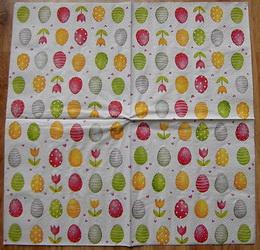 VEL 006 - ubrousek 33x33 - vajíèka na bílém