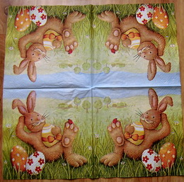 VEL 009 - ubrousek 33x33 - zajíc v trávì