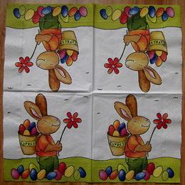 VEL 012 - ubrousek 33x33 - zajíc s nùší
