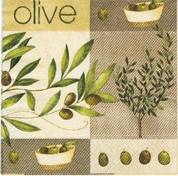 OL 037 - ubrousek 33x33 - olive na hnìdém