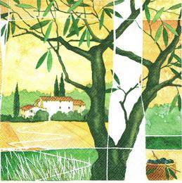 OL 038 - ubrousek 33x33 - olivový strom