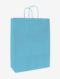 Papírová taška KD modrá-azur 18x8x20cm