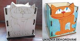 Krabièka - stojánek na tužky KOÈKA - 10,5x v.13x9cm