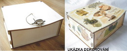 Krabièka na èaj 6 pøihrádek 18x15x7cm