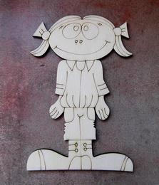 2D výřez holčička podzim - 12x8cm - zvětšit obrázek