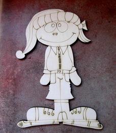 2D výøez holèièka zima - 14x9cm