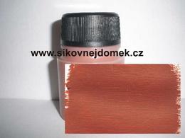 0804 - akrylová barva MAT 70g tmavší terakota