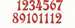 Èísla na hodiny nalepovací-ozdobná v.1,9cm ÈERVENÁ