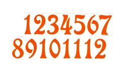 Èísla na hodiny nalepovací-ozdobná v.1,9cm ORANŽ