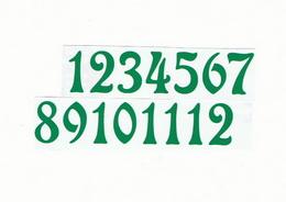 Èísla na hodiny nalepovací-ozdobná v.1,9cm ZELENÁ