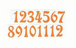Èísla na hodiny nalepovací-ozdobná v.1,9cm ŽLUTÁ