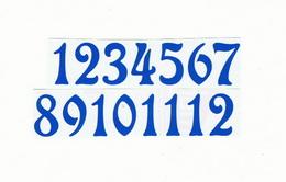 Èísla na hodiny nalepovací-ozdobná v.1,9cm SV.MODRÁ