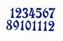Èísla na hodiny nalepovací-ozdobná v.1,9cm TM.MODRÁ