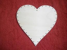 PDG38- dno na pedig pøekližka srdce 19x19cm
