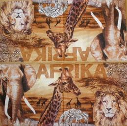 ET 030 - ubrousek 33x33 - afrika zvíøata mix