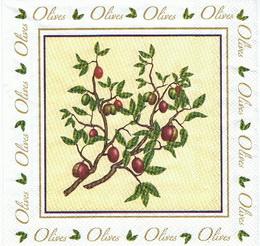 OL 047 - ubrousek 33x33 - olivka ve ètverci