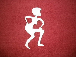 TP2D059 - 2D výøez etno motiv Postava tanèící v.14x7cm