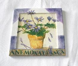Obrázek fialové kvìtinky 15,5x15,5cm - zvìtšit obrázek