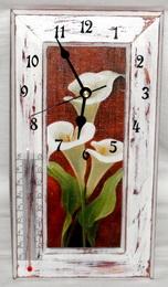 Bílá kala - hodiny, teplomìr, obrázek 3v1 - zvìtšit obrázek