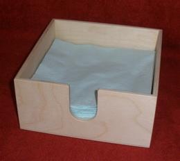 Zásobník na papírové ubrousky na stùl - 17,8x17,8x8,5cm