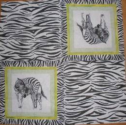 ET 036 - ubrousek 33x33 - zebra+vzor