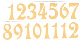 Èísla na hodiny nalepovací-ozdobná v.1,9cm BÉŽOVO-TÌLOVÁ